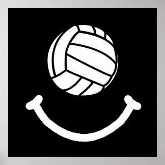 Sonrisa del voleibol póster
