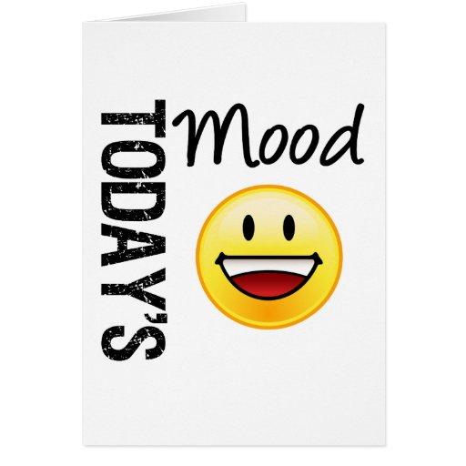 Sonrisa dentuda del Emoticon de hoy del humor Tarjetón