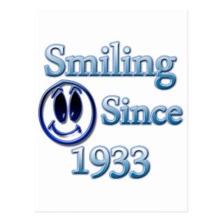 Sonrisa desde 1933 tarjetas postales