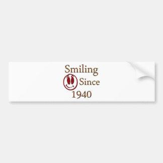 Sonrisa desde 1940 pegatina de parachoque