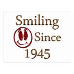 Sonrisa desde 1945 tarjetas postales