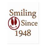 Sonrisa desde 1948 tarjeta postal