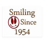 Sonrisa desde 1954 tarjeta postal