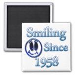 Sonrisa desde 1958 imanes de nevera
