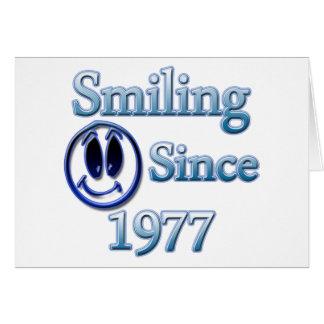 Sonrisa desde 1977 felicitaciones