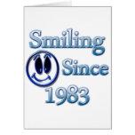 Sonrisa desde 1983 tarjeta