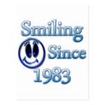 Sonrisa desde 1983 tarjeta postal