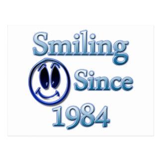 Sonrisa desde 1984 tarjeta postal