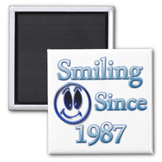 Sonrisa desde 1987 imanes de nevera