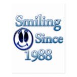Sonrisa desde 1988 tarjeta postal
