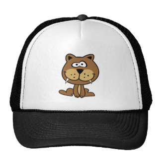 sonrisa divertida de la animación de la barreta de gorras