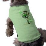 sonrisa divertida de la mujer del dibujo animado camisetas de mascota