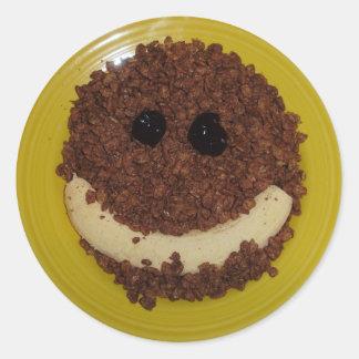 Sonrisa dulce pegatina redonda