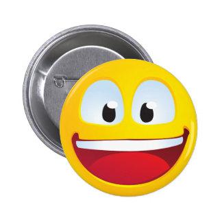 Sonrisa emocionada pin redondo 5 cm