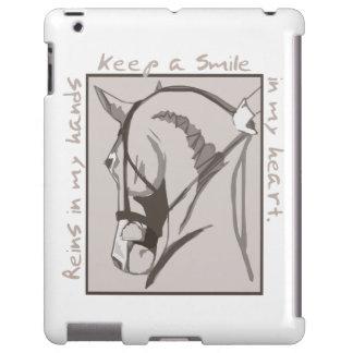 Sonrisa en mi corazón funda para iPad