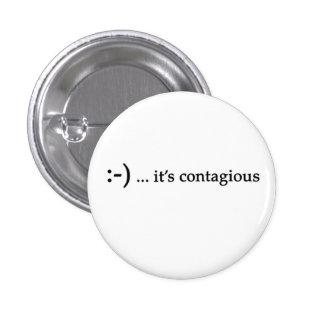 sonrisa… es botón contagioso pin