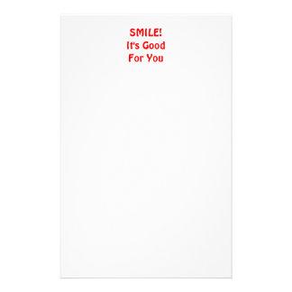 ¡SONRISA! Es bueno para usted. Rojo Papeleria Personalizada