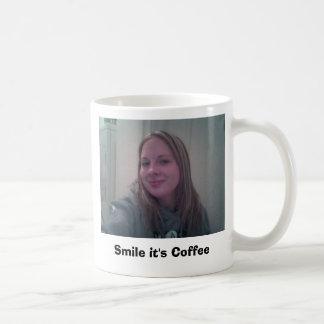 Sonrisa es café taza