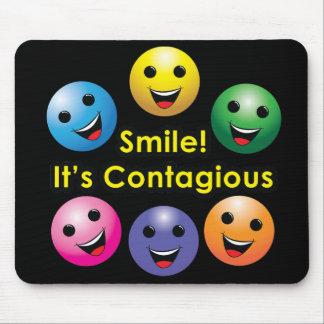 ¡Sonrisa! Es contagiosa - cojín de ratón Alfombrilla De Raton