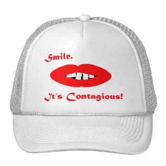 Sonrisa es contagioso gorros bordados