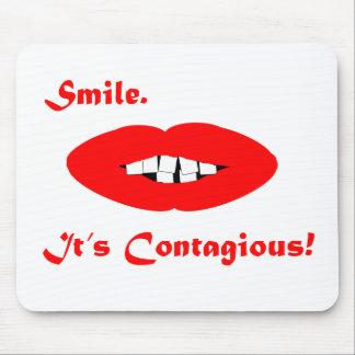 Sonrisa, es contagioso alfombrilla de ratones