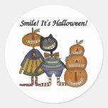 Sonrisa es Halloween Etiqueta