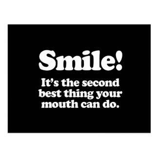 Sonrisa. Es la cosa del segundo mejor que puede su Postal
