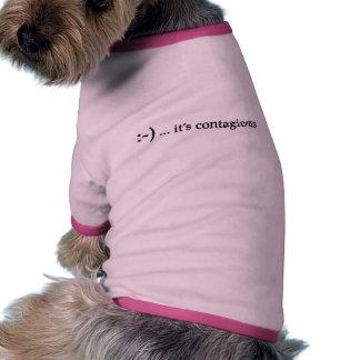 sonrisa… es ropa contagiosa del mascota ropa perro