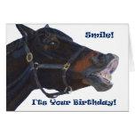 ¡Sonrisa!  ¡Es su cumpleaños! Caballo Felicitacion