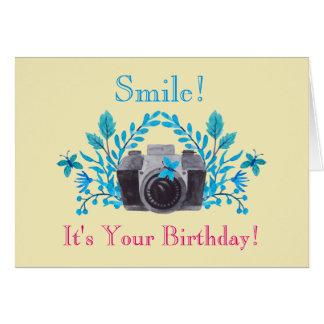 ¡Sonrisa! es su cumpleaños temático de la cámara Tarjeta De Felicitación