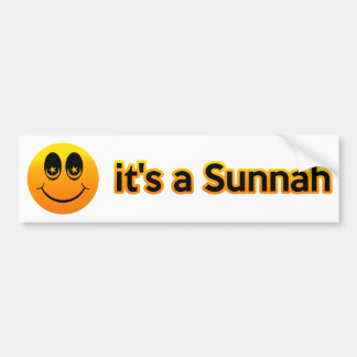 Sonrisa es un Sunnah Pegatina Para Auto