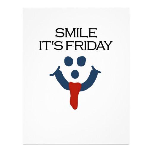 Sonrisa es viernes membrete personalizado