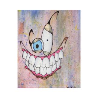 Sonrisa extraña impresion de lienzo