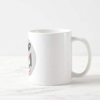 Sonrisa extranjera taza de café