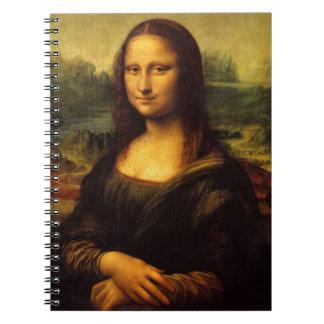 Sonrisa famosa del retrato de Mona Lisa Leonardo d Libreta Espiral