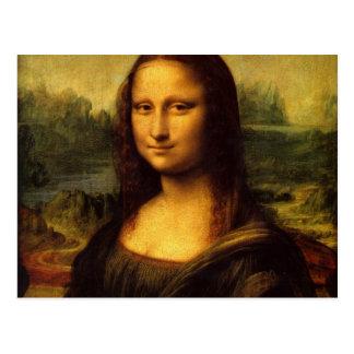 Sonrisa famosa del retrato de Mona Lisa Leonardo Postal