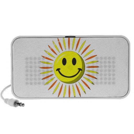 Sonrisa feliz brillante - cara sonriente mini altavoces