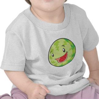 Sonrisa feliz de la fruta de la sandía camiseta