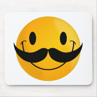 sonrisa feliz sonriente del bigote alfombrilla de raton
