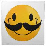 sonrisa feliz sonriente del bigote servilleta