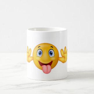 Sonrisa feliz taza de café