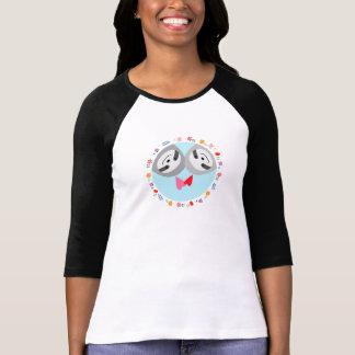 Sonrisa floral de los pares de la pereza de la t-shirts