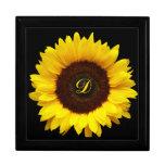 Sonrisa grande/girasol amarillo caja de regalo