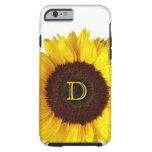 Sonrisa grande/girasol amarillo funda de iPhone 6 tough