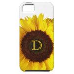 Sonrisa grande/girasol amarillo iPhone 5 carcasas