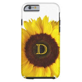 Sonrisa grande/girasol amarillo personalizado funda para iPhone 6 tough