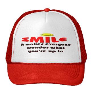 Sonrisa - haga que la gente se pregunta lo que su  gorra