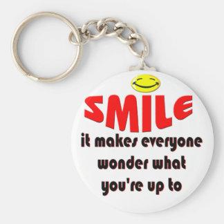 Sonrisa - haga que la gente se pregunta lo que su  llavero redondo tipo pin