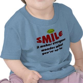 Sonrisa - haga que la gente se pregunta lo que su  camiseta