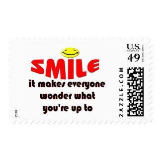 Sonrisa - haga que la gente se pregunta lo que su sello postal